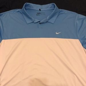 Nike Golf Polo XXL Blue and White